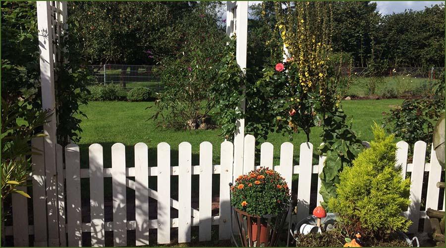 Urlaubseindrücke Haus Friesenglück in Kolkerheide, Nordfriesland - Gartenterasse