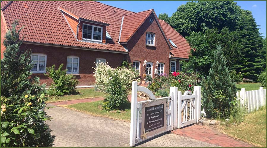 Haus Friesenglück in Kolkerheide, Nordfriesland - Frontansicht